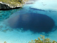 Dean's Bluehole in the Bahamas